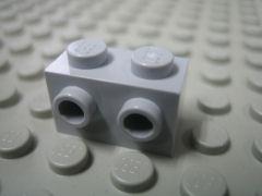 %11211 ブロック[新灰]1x2(片側面にポッチ2個)