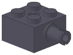 %6232 ブロック[新濃灰]2x2(軸穴、横にペグ)