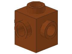 %4733 ブロック[新茶]1x1(4方向ポッチ)