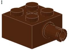 %6232 ブロック[新茶]2x2(軸穴、横にペグ)