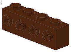 %30414 ブロック[新茶]1x4(片側面にポッチ4個)