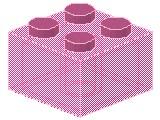 %3003 ブロック[透明ピンク]2x2