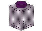 %3005 ブロック[透明紫]1x1