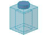 %3005 ブロック[透明水色]1x1