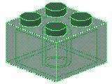 %3003 ブロック[透明緑]2x2