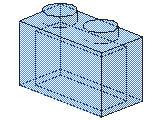 %3065 ブロック[透明薄青]1x2