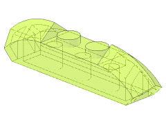 %40996 ブロック[透明薄緑]1x4(両端がカーブスロープ)