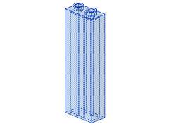 %46212 ブロック[透明水色]1x2x5