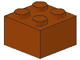 %3003 ブロック[ダークオレンジ]2x2