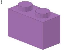%3004 ブロック[パステル紫]1x2