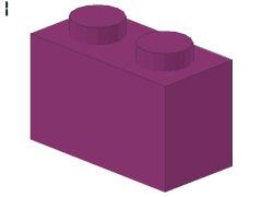 %3004 ブロック[紅紫]1x2