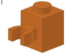 %30241 ブロック[黄褐色]1x1(垂直クリップ)