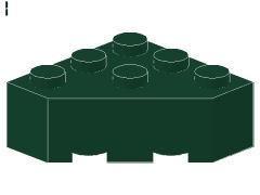 %30505 ブロック[濃緑]3x3(角が3つ)