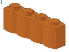 %30137 ブロック[黄褐色]1x4(丸太)