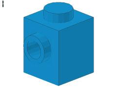%87087 ブロック[ダークアズール青]1x1(片側面にポッチ)