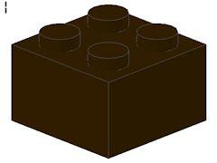 %3003 ブロック[濃茶]2x2
