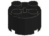 %3941 ブロック[黒]2x2(丸)