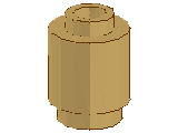 %3062B ブロック[タン]1x1(丸)