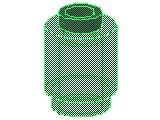 %3062B ブロック[透明緑]1x1(丸)