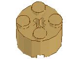 %3941 ブロック[タン]2x2(丸)