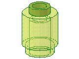 %3062B ブロック[透明薄緑]1x1(丸)