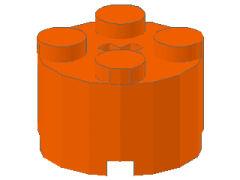 %3941 ブロック[オレンジ]2x2(丸)