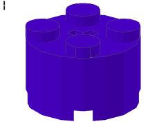 %3941 ブロック[青紫]2x2(丸)