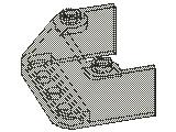 %2437 風防[透明濃灰]3x4x1.3