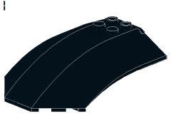 風防[黒]8x6x2(カーブ)