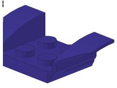 %41854 ウィング型マッドガード[青紫]2x4
