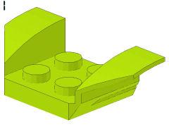 %41854 ウィング型マッドガード[黄緑]2x4