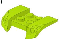 %44674 ツメ型マッドガード[黄緑]2x4