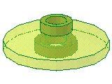 %4740 レーダー・アンテナ[透明薄緑]2x2