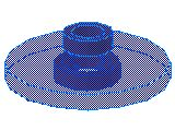 %4740 レーダー・アンテナ[透明青]2x2