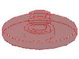 %4740 レーダー・アンテナ[透明赤]2x2