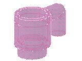 %3899 ミニフィグカップ[透明ピンク]