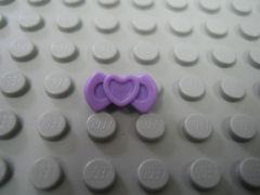 蝶ネクタイ[パステル紫](ハート)
