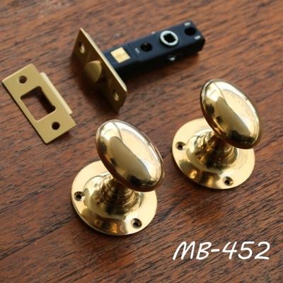 MB-452 真鍮ドアノブ(玉子型+丸座)+空錠 MB-452