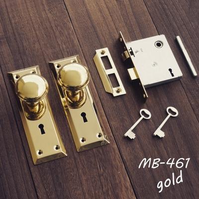 MB-461 ドアノブ握り玉 棒カギ錠付 MB-461