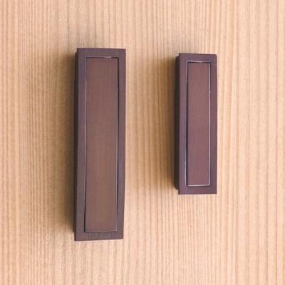 和風取手 薄型引出取手・座付き 銅古美めっき