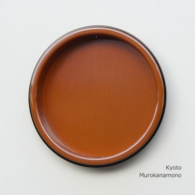 襖引手 素銅 平縁丸 赤銅小座 大 ※数量限定品