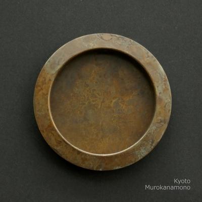 襖引手 muroiro 平縁丸 真鍮古色