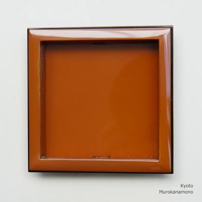 襖引手 素銅 太縁四角 赤銅小座 ※数量限定品