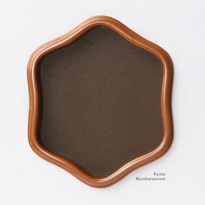 襖引手 素銅うるみ亀甲