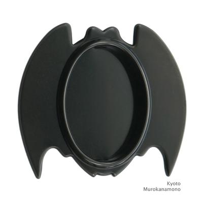 襖引手 赤銅 蝙蝠(こうもり)大