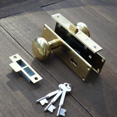 MB-455 真鍮製ドアノブ棒カギ錠 MB-455