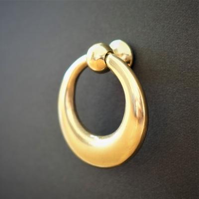 箪笥金具 月輪下り 真鍮磨き