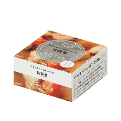 CAN缶詰 野菜と鶏肉の旨味しみこむ筑前煮
