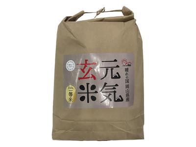 【令和2年産】元気玄米あきたこまち 20kg【玄米】岡山県産
