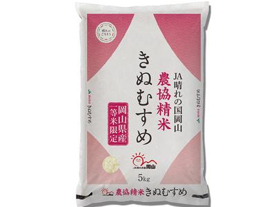 【令和2年産】農協精米 きぬむすめ 5kg【精米】岡山県産